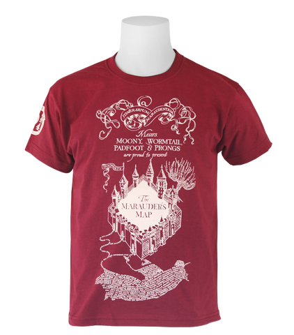 d13d4fa5c284 Product information. The Marauder's Map Burgundy T-Shirt - Kids