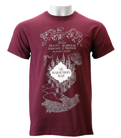 The Marauder's Map Burgundy T-Shirt