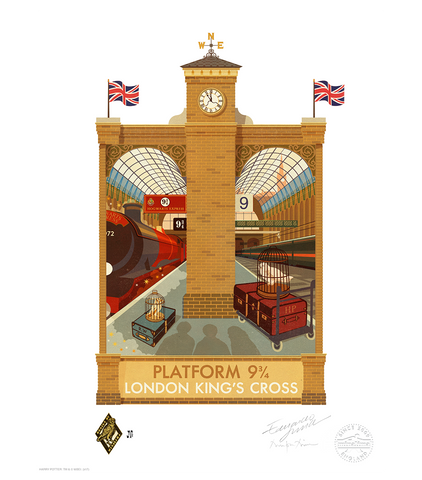 Platform 9 3/4 - Exclusive MinaLima Signed Print