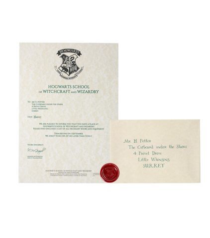 Harry Potter Personalised Acceptance Letter