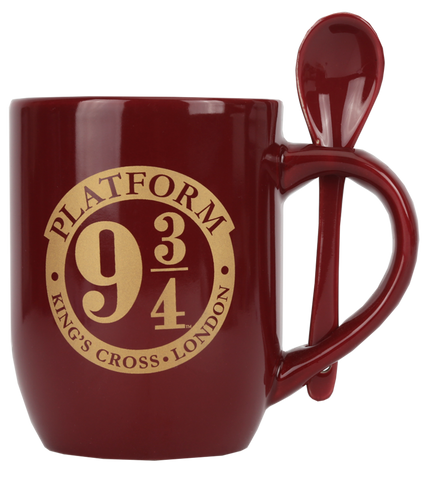 Platform 9 3/4 Mug & Spoon Burgundy
