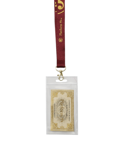 Platform 9 3/4 Burgundy Lanyard & Ticket