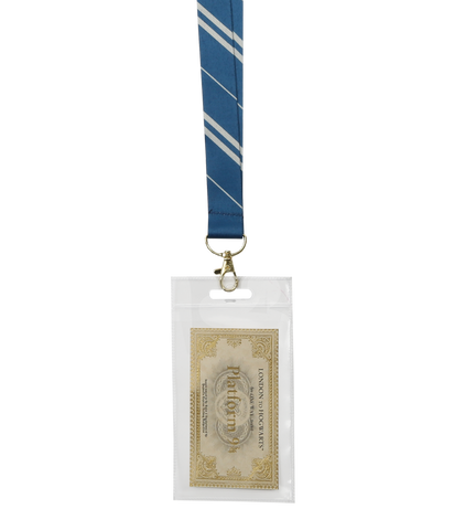 Ravenclaw House Tie Lanyard & Ticket