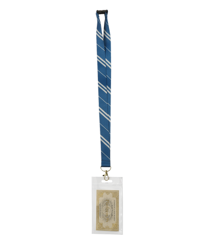 Ravenclaw Lanyard with Ravenclaw and Hogwarts Pin Badge