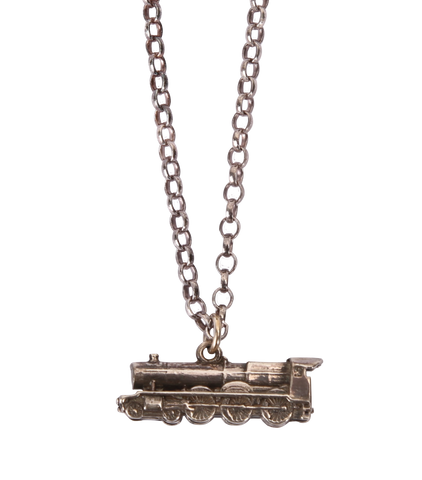 Sterling Silver Hogwarts Express Necklace