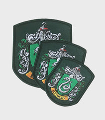 Set of Slytherin Embroidered Crest Patches