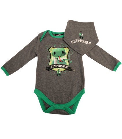 Slytherin House Babygrow and Bib