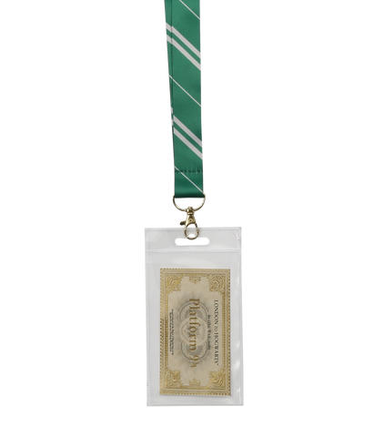 Slytherin House Tie Lanyard & Ticket
