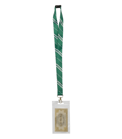 Slytherin Lanyard with Slytherin and Hogwarts Pin Badge
