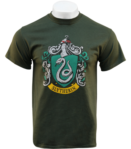Clothing HARRY POTTER Unisex Adults Hufflepuff Crest Print T-Shirt Shirts