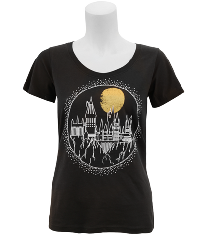 Black Hogwarts Castle T-Shirt - Womens