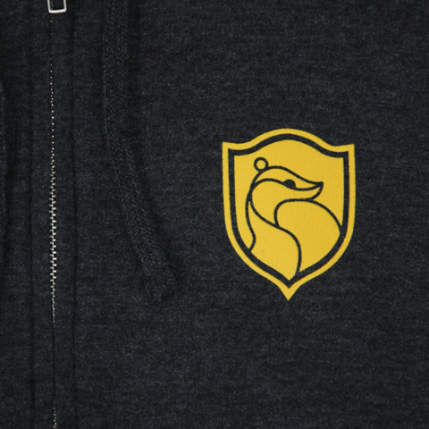 Hufflepuff House Crest Zip-Up Hoodie