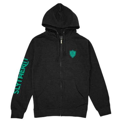 Slytherin House Crest Zip-Up Hoodie