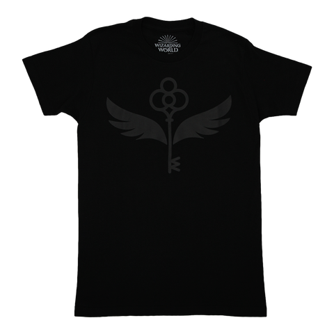 Enchanted Key Raised Print Black T-Shirt
