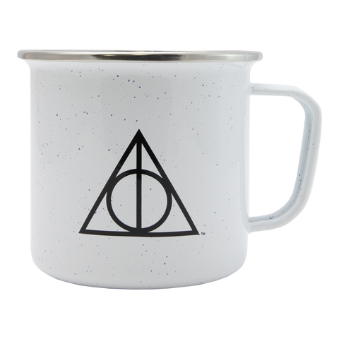 Deathly Hallows Speckled White Mug