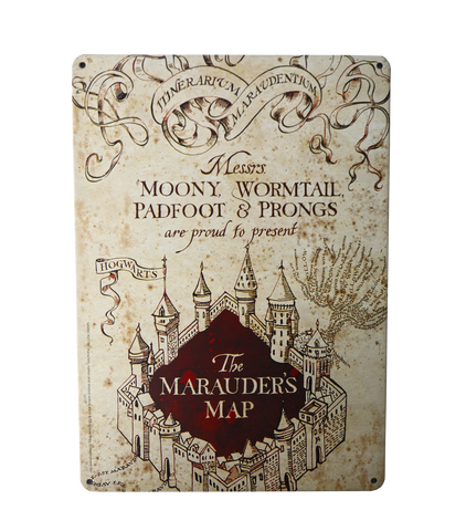 The Marauder's Map Tin Wall Sign