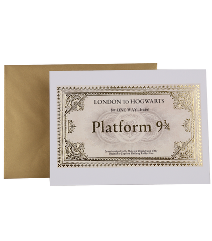 Hogwarts Express Ticket Notecard