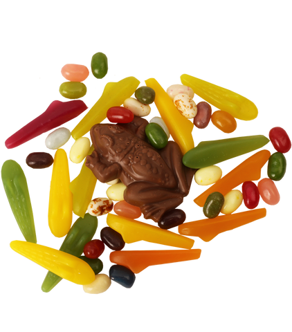 Sweets Bundle - Chocolate Frog, Bertie Botts Beans, and Jelly Slugs