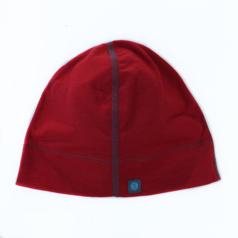 Adults Bold Red Merino Wool Beanie