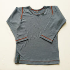 Light Blue Merino Wool Childrens Top