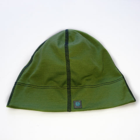 Adults Leaf Green Merino Wool Beanie