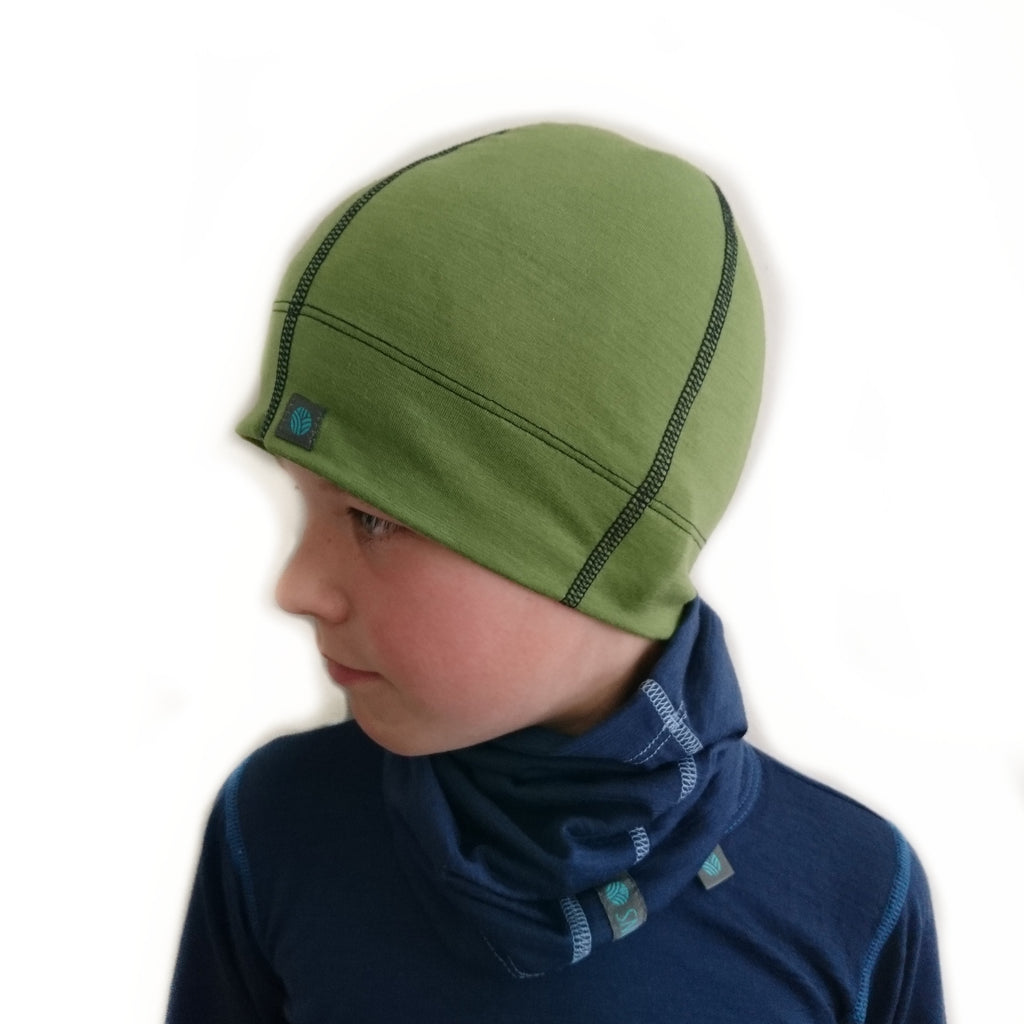 Leaf Green Merino Wool Beanie
