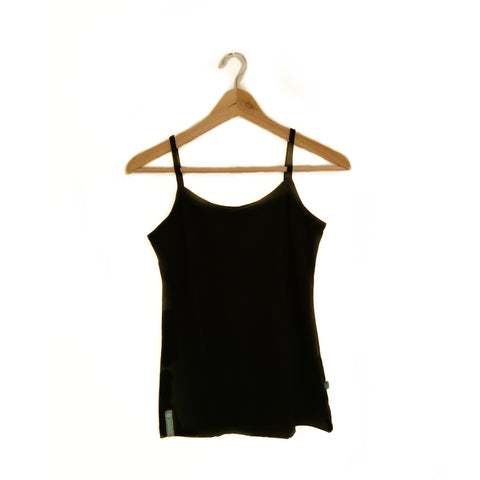 Black Merino Wool Womens Camisole