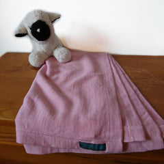 Merino Wool Pink Swaddle Blanket