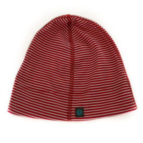 Red Stripe Merino Wool Beanie
