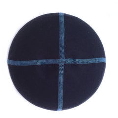 Navy Blue Merino Wool Beanie