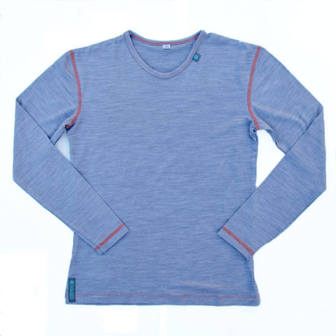 Grey Marl Merino Wool Mens Top