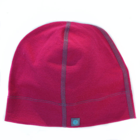 Adults Cerise Pink Merino Wool Beanie