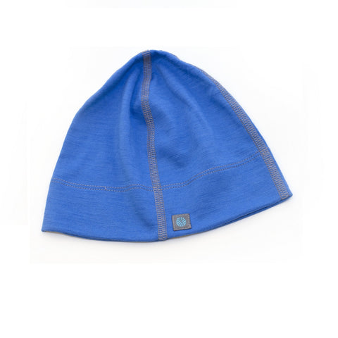 Adults Lapis Blue Merino Wool Beanie