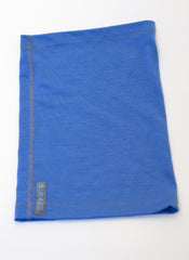 Lapis Blue Merino Wool Neck Gaiter