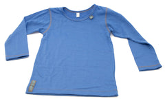 Lapis Blue Merino Wool Long Sleeved Top