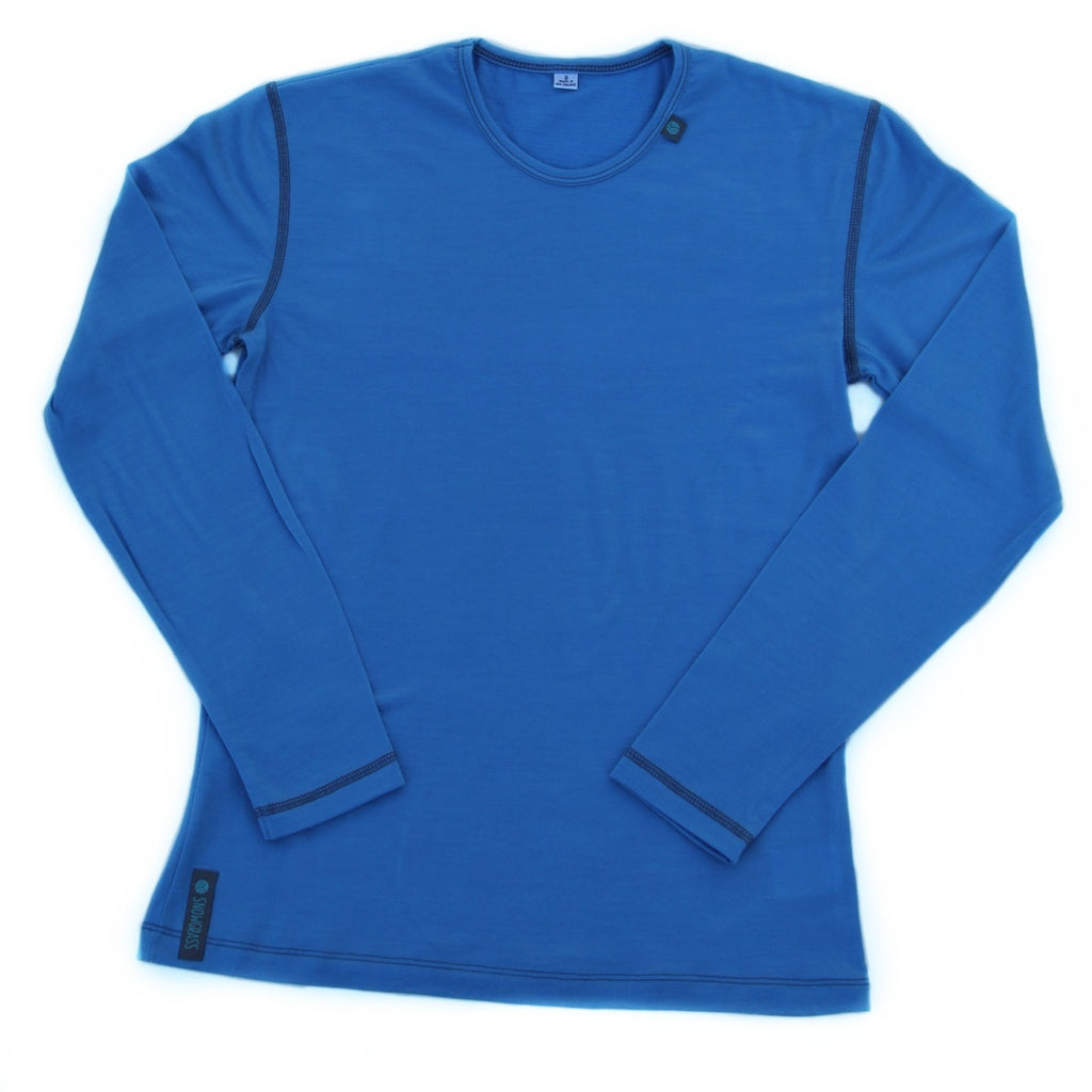 Blue Merino Wool Womens Top