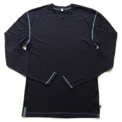 Midnight Blue Merino Wool Mens Base Layer Top