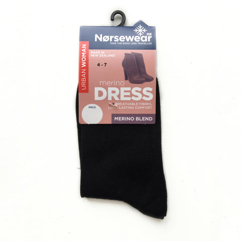 Black Merino Wool Ladies Socks