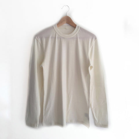 Soft White Merino Wool Mens Top
