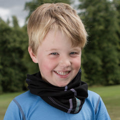 Black Merino Wool Neck Gaiter