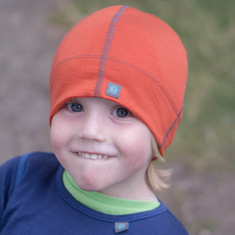 Burnt Orange Merino Wool Beanie