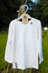 Soft White Merino Wool Long Sleeved Top