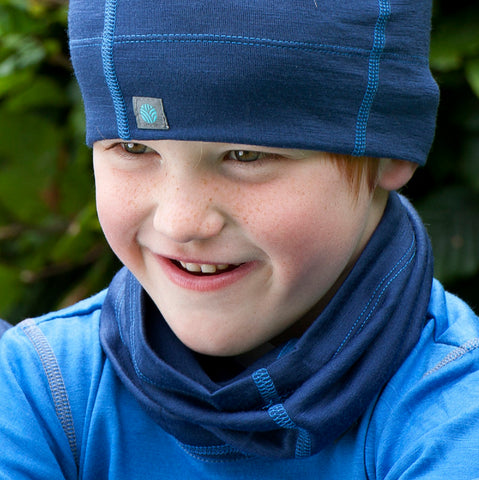Blue Night Merino Wool Neck Gaiter