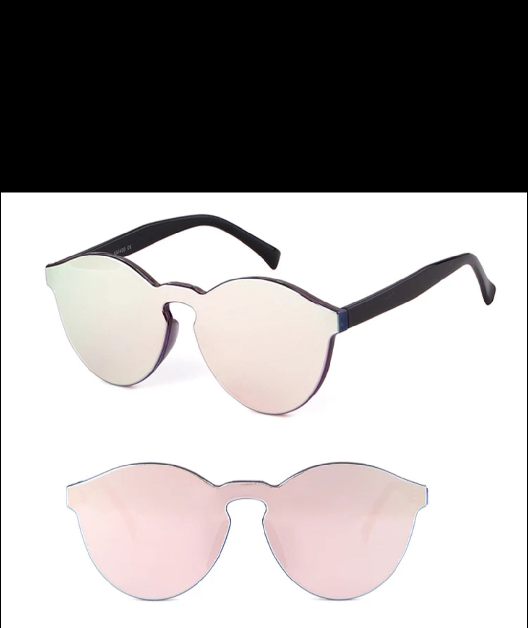 Fashion Sunglasses- Pink/Silver Solid