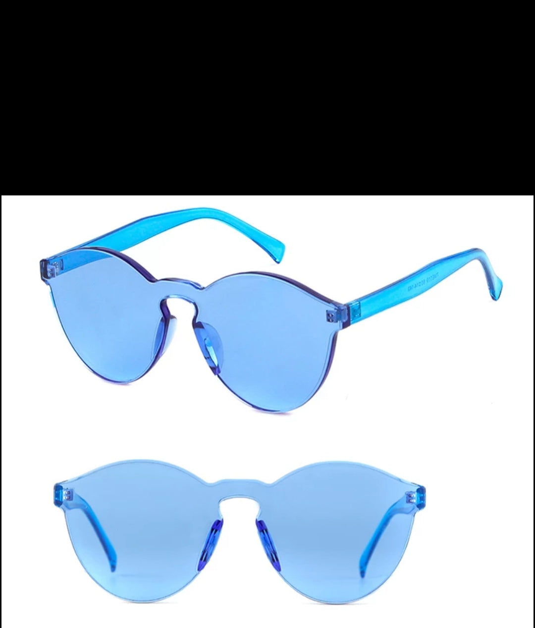 Fashion Sunglasses-Transparent Royal Blue
