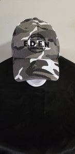 Dad Hats- Gray/White Army Fatigue  (Eden Logo)