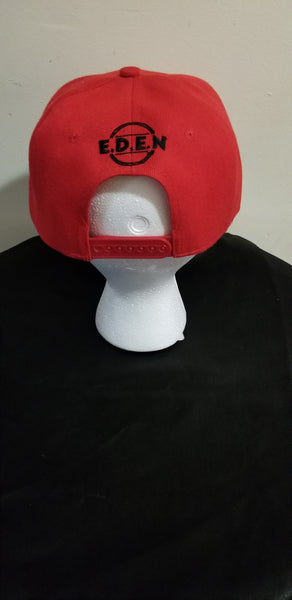 Snapback Hat- Red (Let's Build Together)
