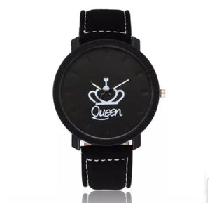 Women's Watch- Queen symbol with Crown (Black)