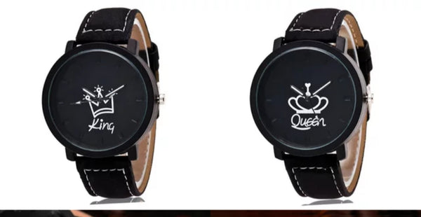 Men's Watch- King symbol with Crown (Black)