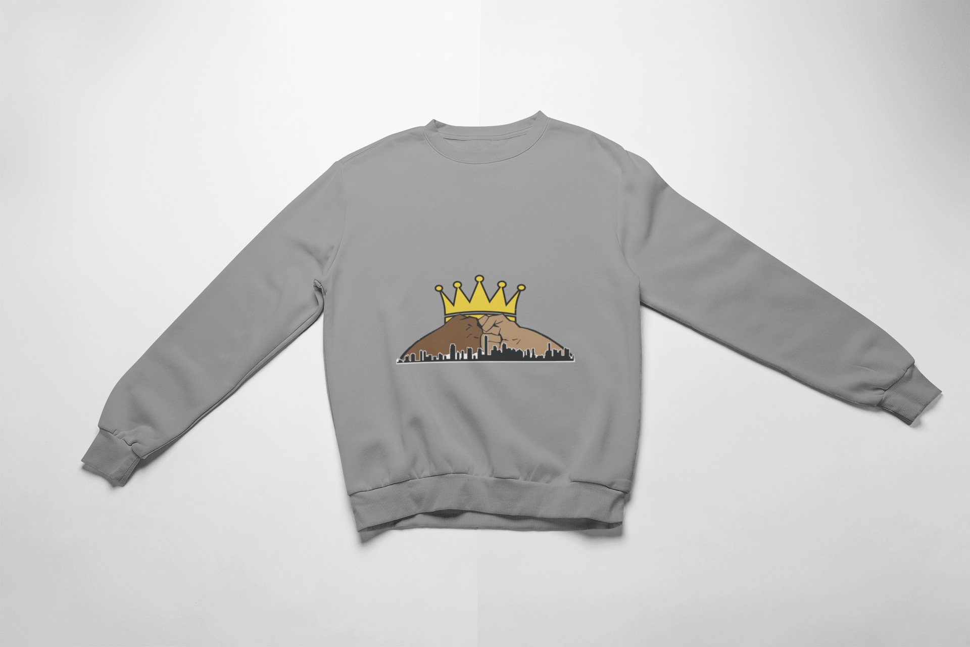 Let's Build Together Sweatshirt-Yellow Crown